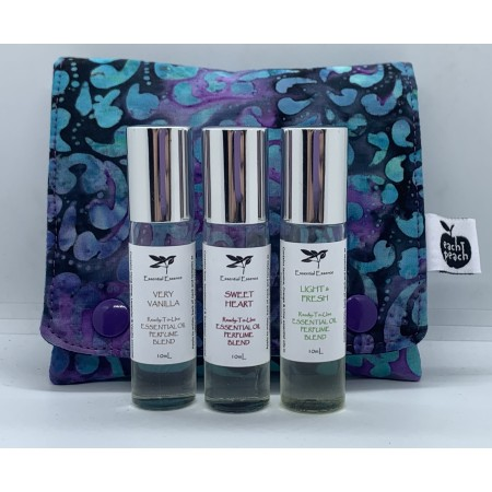 Aromatherapy Roller Gift Bag - Blue