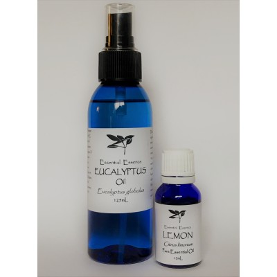 125mL Eucalyptus Spray & 15mL Lemon Essential Oil Pack
